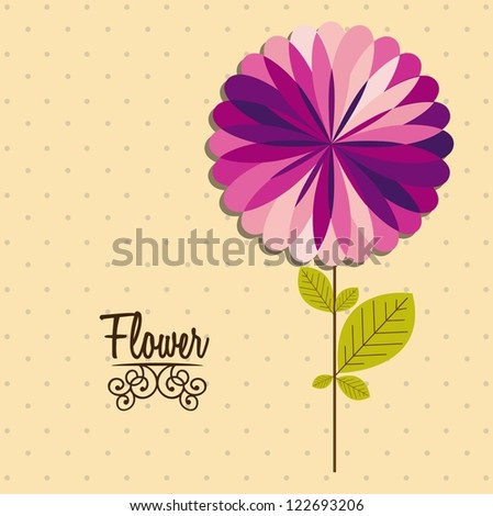 Illustration flowers icons, spring and valentines day, vector illustration