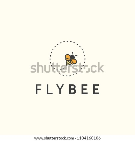 illustration fly bee sign