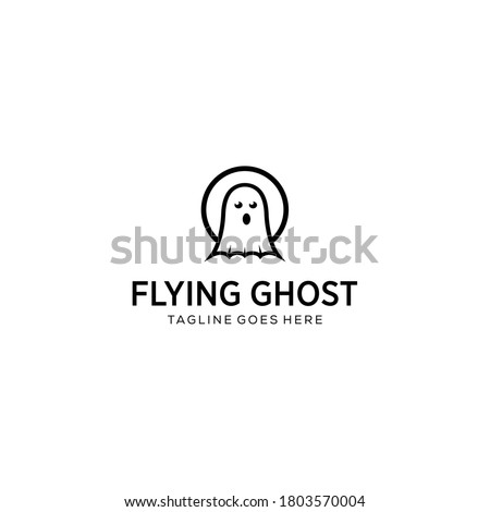 illustration flying ghost