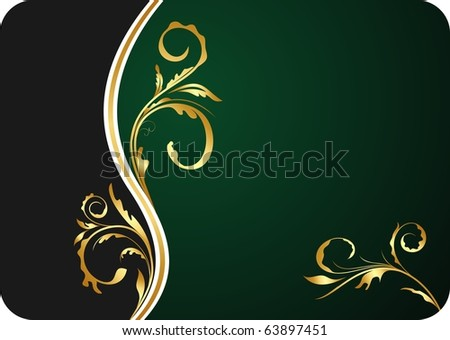 Illustration for design floral business card and invitation - vector