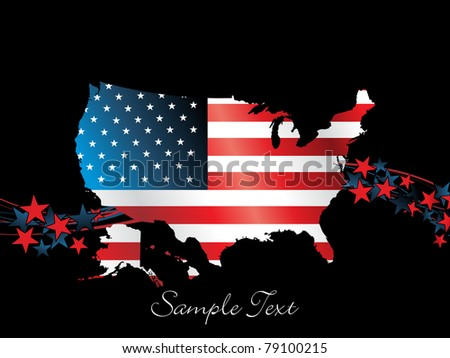illustration for happy 4th july us independence day celebration