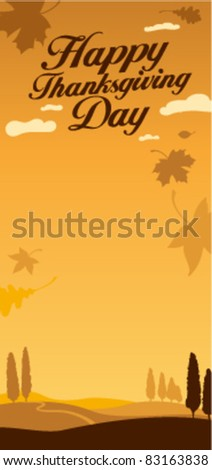 Illustration for happy thanksgiving day celebration. - stock vector