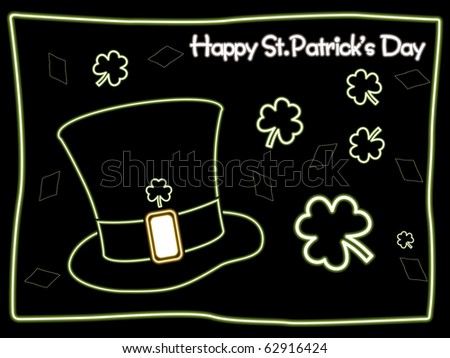 illustration for 17th march, happy st patricks day