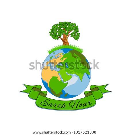 Illustration for the international Earth Hour