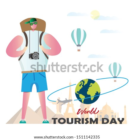 Illustration for World Tourism Day.