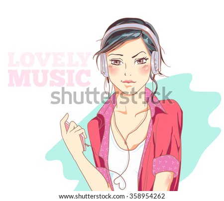 illustration girl vector