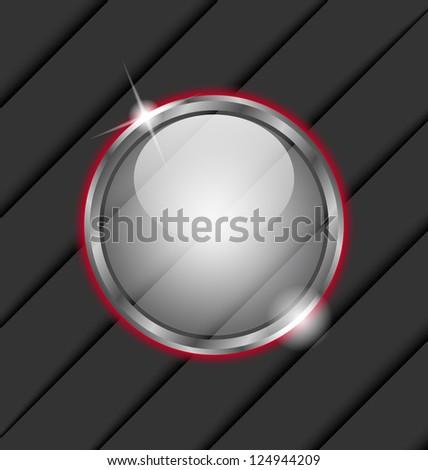 Illustration glass ball as vector speech bubble - vector
