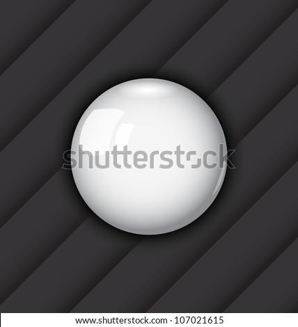 Illustration glossy ball as vector speech bubble - vector - stock vector