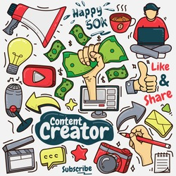 Illustration graphic vector of content creator
