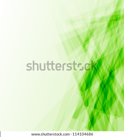 Illustration green business card, abstract background - vector