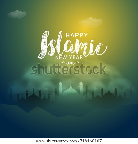 Islamic new year download free vector art stock graphics images illustrationgreeting card for islamic new year m4hsunfo