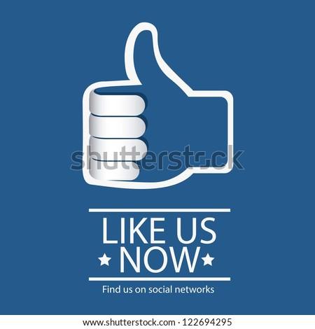 Illustration icon social networks, cons, vector illustration