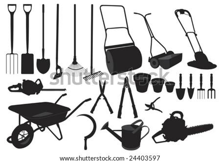 garden tools clip art. of various garden tools