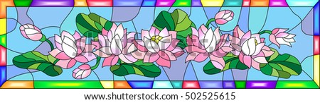 illustration in stained glass