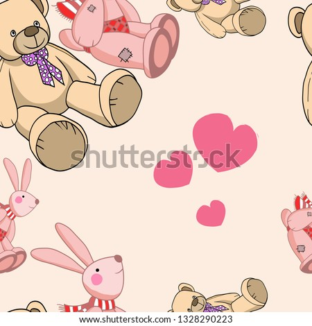 stock-vector-illustration-in-vector-seamless-pattern-teddy-bear