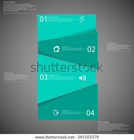 stock-vector-illustration-infographic-template-with-bar-randomly-divided-to-four-green-parts-which-are-shifted