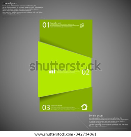 stock-vector-illustration-infographic-with-motif-of-randomly-divided-bar-to-three-green-parts-each-part-has-own