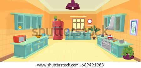 illustration kitchen   cartoon