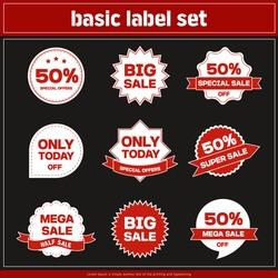 Illustration,label,advertisement :Variant set of labels
