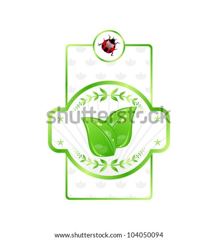 Green Label Singapore Logo Picture on Illustration Natural Eco Label With Green Leaves For Packing Product