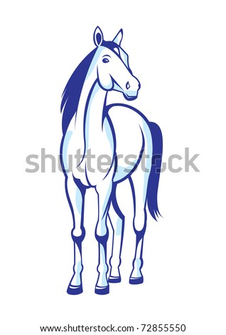 Illustration nice horse insulated on white background