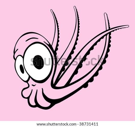 illustration - octopus in comic style