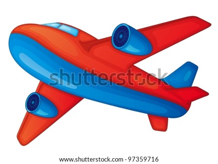 illustration of a aeroplane on white background - stock vector