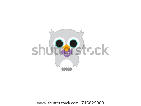 illustration of a baby owl with