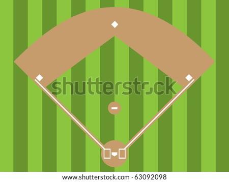 Illustration of a baseball diamond (an overhead view)