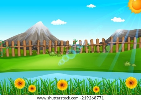 Illustration of a beautiful environment