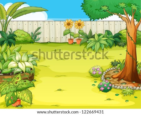 Cartoon Garden Vectors - Download Free Vector Art, Stock Graphics ...