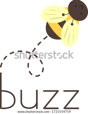 Illustration of a Bee Making a Buzzing Sound Photo stock ©