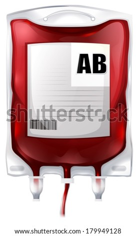 illustration of a blood bag