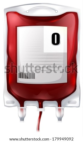illustration of a blood bag