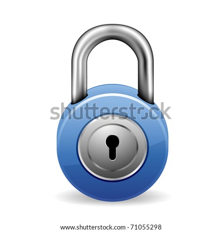 illustration of a blue lock with keyhole