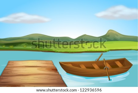 illustration of a boat and a