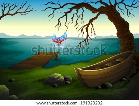 illustration of a boat under