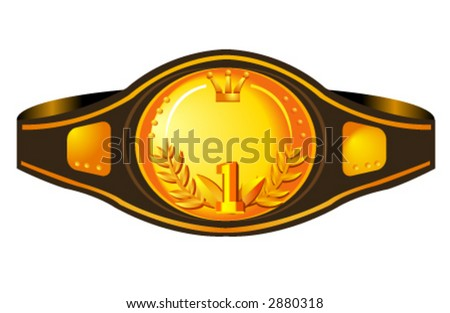 illustration of a box champion's belt. Useful for a lot of projects