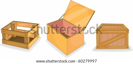 illustration of a box on a white background