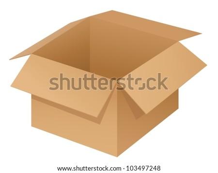 Illustration of a box on white