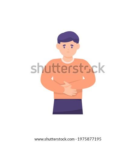 illustration of a boy holding