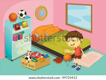 illustration of a boy in his