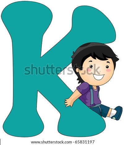 illustration of a boy leaning
