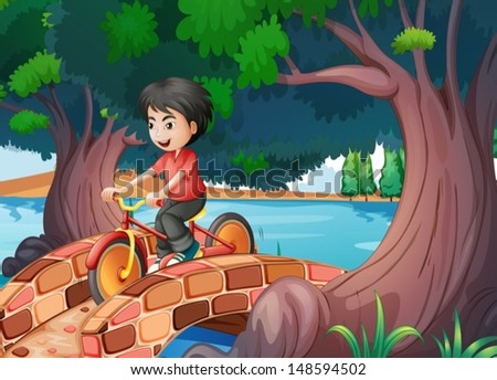 illustration of a boy passing