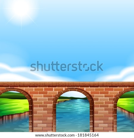 illustration of a bridge under