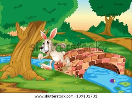 illustration of a bunny running