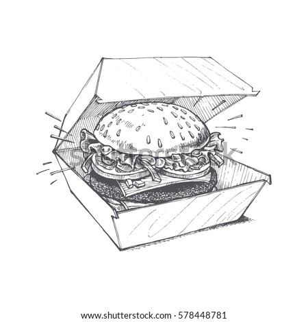 illustration of a burger  a...