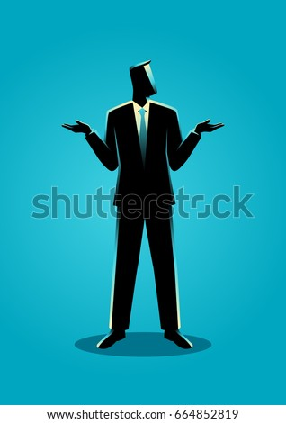 illustration of a businessman