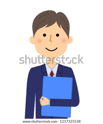 Illustration of a businessman with a file.