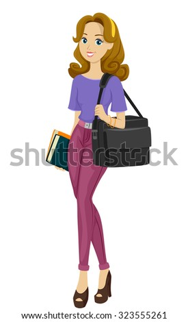 illustration of a busy teenage